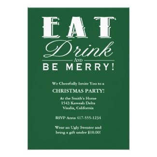 Eat Drink Be Merry Announcements