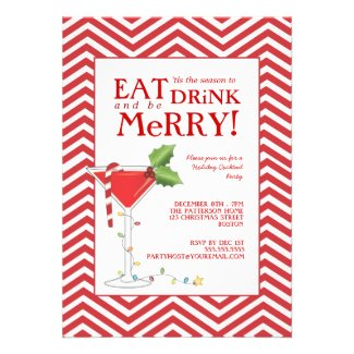 Eat Drink & be Merry Christmas Cocktail Party Announcement