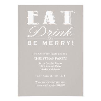 Eat Drink Be Merry Custom Invites