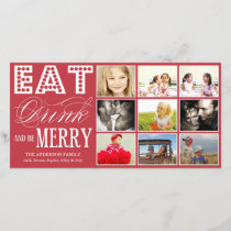 EAT, DRINK & BE MERRY | HOLIDAY COLLAGE CARD