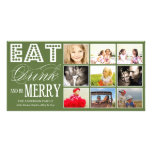 EAT, DRINK & BE MERRY   HOLIDAY COLLAGE CARD