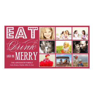 EAT, DRINK & BE MERRY | HOLIDAY COLLAGE CARD PHOTO CARDS