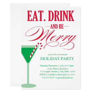 Eat, Drink & Be Merry | Holiday Party Invite