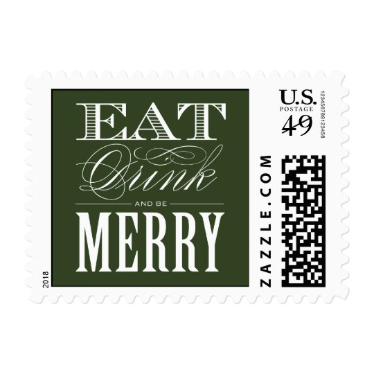 EAT DRINK & BE MERRY  | HOLIDAY POSTAGE
