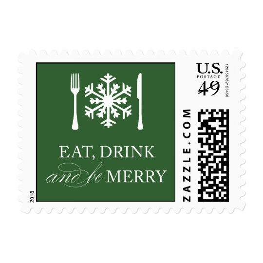 EAT, DRINK & BE MERRY | HOLIDAY POSTAGE