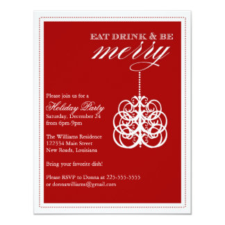 Eat Drink & Be Merry Personalized Announcements