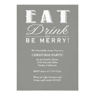 Eat Drink Be Merry Invitation