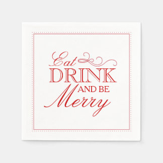 Eat Drink & Be Merry Paper Napkins
