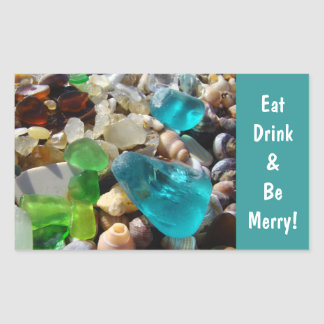 Eat Drink & Be Merry! stickers Envelope seal Beach