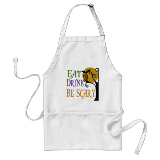 Eat Drink Be Scary Adult Apron