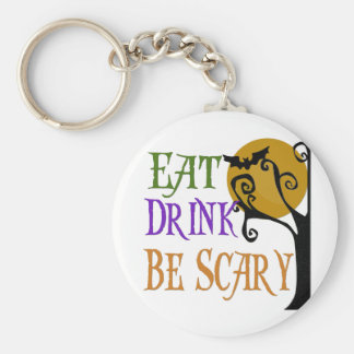 Eat Drink Be Scary Basic Round Button Keychain