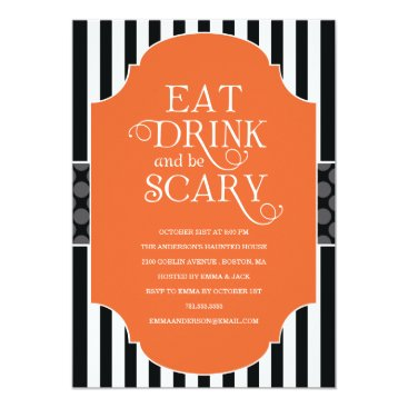 FINEandDANDY EAT, DRINK & BE SCARY | HALLOWEEN PARTY INVITATION