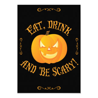 Eat Drink Be Scary Halloween Party Invitations