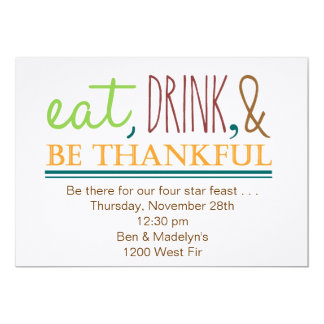 Eat, Drink, & Be Thankful Card