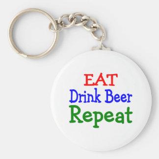 Eat Drink Beer Repeat Keychain