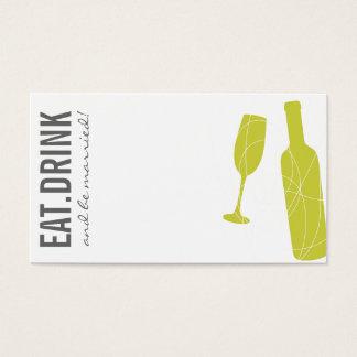 Eat-Drink-BeMarried Escort Card