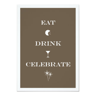 Eat Drink Celebrate brown new year eve party Announcements