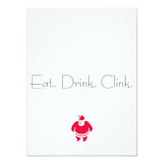 Eat. Drink.Clink. , Santa Christmas party invite
