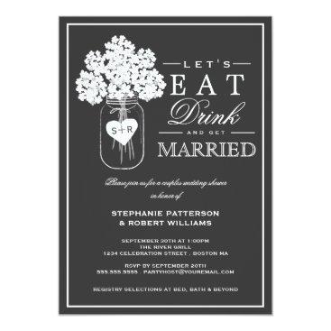 kat_parrella Eat Drink & Get Married Couples Shower Invitation