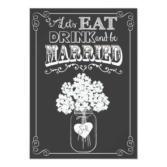 Eat Drink Amp Get Married Couples Shower Invitation Zazzle