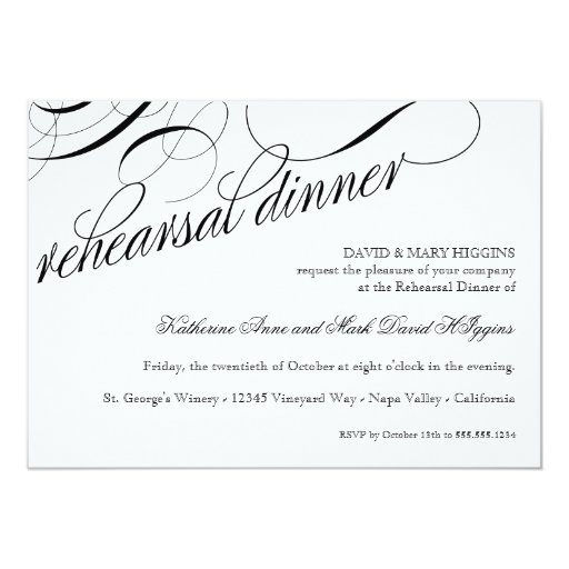 Eat, Drink Get Married Rehearsal Dinner Invites