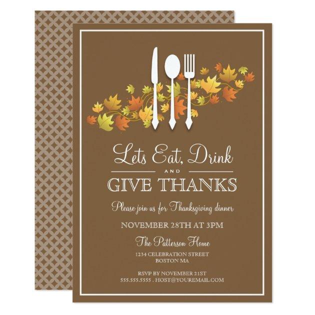 28 Lovely Autumn Themed Thanksgiving Invitations Mimoprints