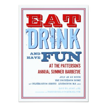 kat_parrella Eat, Drink & have Fun at a Summer BBQ Party Card