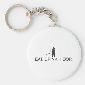 Eat. Drink. Hoop Keychain
