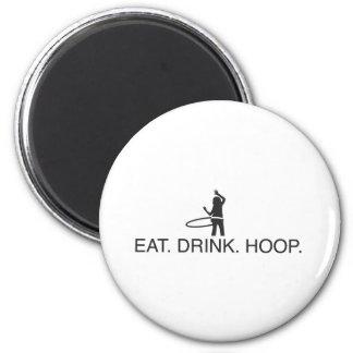 Eat. Drink. Hoop Magnet