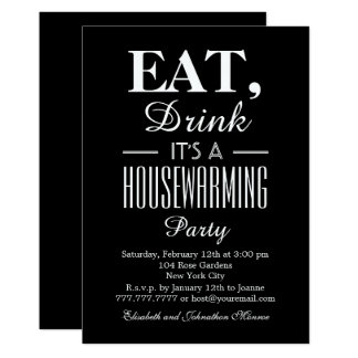 Eat, Drink It's a Housewarming Party Card
