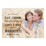 Eat Drink Married Rustic Country Wedding Invitation