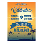 Eat Drink n Celebrate Summer Sunset Save the Date Cards