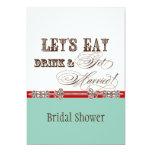Eat, Drink n Get Married Bridal Shower Invitation