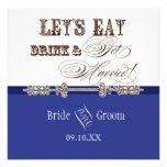 Eat, Drink n Get Married Bridal Wedding Invitation