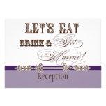 Eat, Drink n Get Married Formal Reception Invite