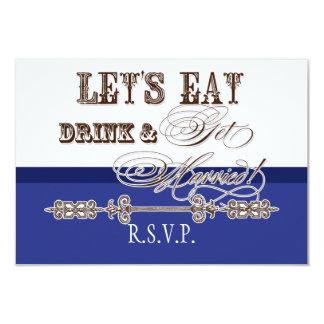 Eat, Drink n Get Married Formal RSVP Response Card