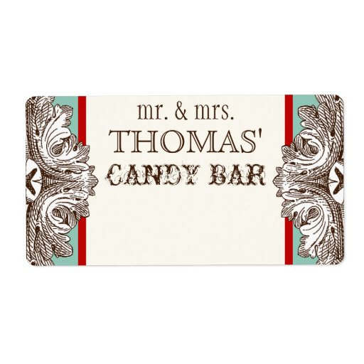 Eat, Drink n Get Married Matching Candy Bar Labels