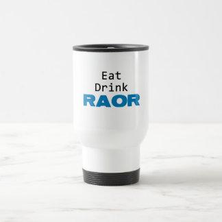 eat drink raor blue coffee mugs