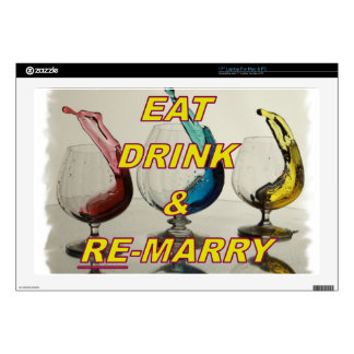 EAT DRINK & REMARRY LAPTOP DECAL