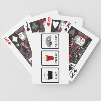 """Eat, Drink, Sleep"" Teardrop Camping Bicycle Playing Cards"