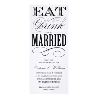 EAT DRINK WEDDING INVITATION 1