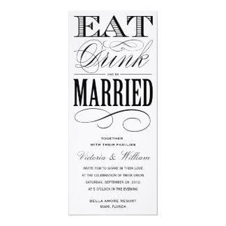 EAT, DRINK | WEDDING INVITATION 1