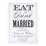 EAT,DRINK | WEDDING INVITATION STYLE 2