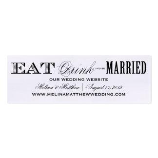EAT, DRINK | WEDDING WEBSITE CARDS BUSINESS CARD TEMPLATE