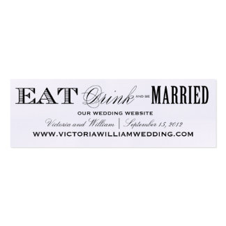 EAT DRINK WEDDING WEBSITE CARDS STYLE 2 BUSINESS CARD TEMPLATE