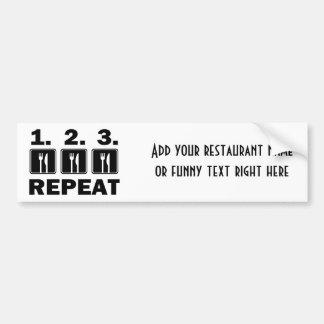 Eat Eat Eat and Repeat Car Bumper Sticker
