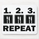 Eat Eat Eat and Repeat Mousepads