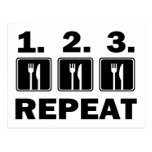 Eat Eat Eat and Repeat Postcards
