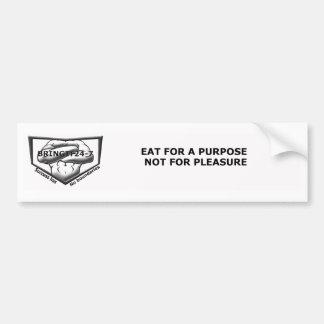 Eat for a purpose bumper sticker