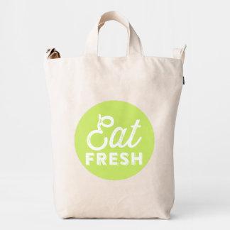 Eat Freash | Retro Typography BAGGU Duck Bag